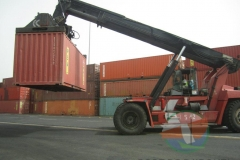 Forklift at container terminak