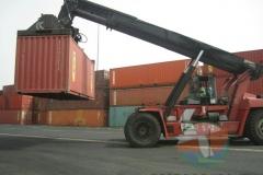Forklift at container terminak