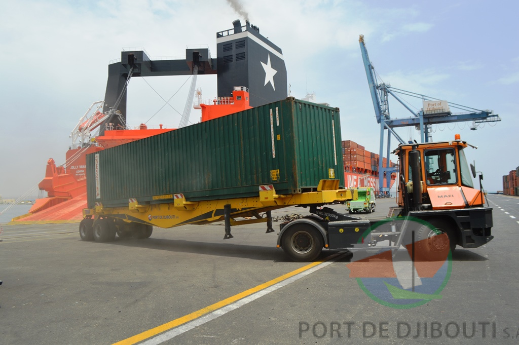 truck at terminal container